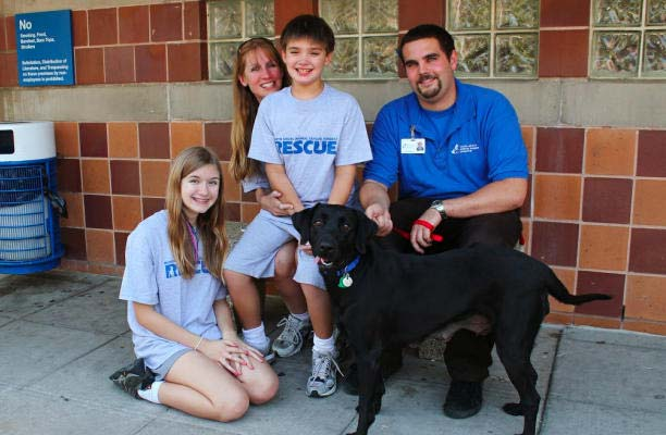 Saphire the dog gets a new home