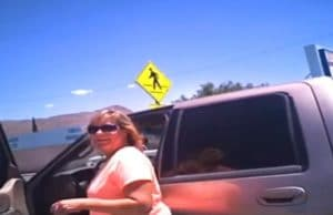 Woman gets a fine and scolding from officer for leaving her dog in a hot car