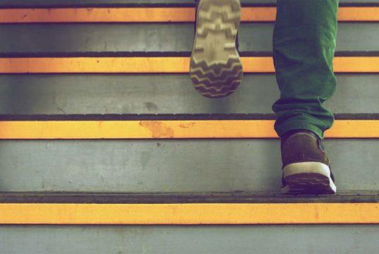 Funny stair climb video